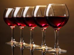 красное, вино, бокалы