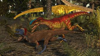 динозавры, природа