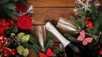 подарок, бокалы, украшение