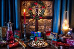 праздничные, угощения, вино, печенье