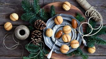 праздничные, угощения, орешки