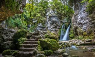 обои для рабочего стола 2048x1245 природа, водопады, простор