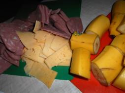 бананы, сыр, еда, колбаса