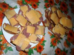 хлеб, сыр, колбаса, бутерброды, еда