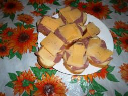 бутерброды, сыр, хлеб, колбаса, еда