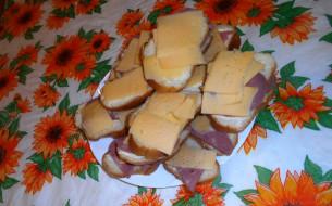 хлеб, колбаса, бутерброды, сыр, еда