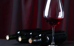 бутылка, бокал, вино