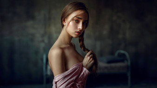 рубашка, взгляд, коса, Katya, Ekaterina Podberyoznaya, Екатерина Подберёзная