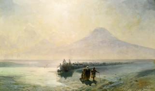 картина, иван айвазовский, сошествие ноя с горы арарат