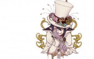 улыбка, шляпа, вилка, персонаж