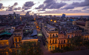 города, гавана , куба, панорама