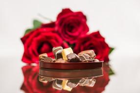 конфеты, розы, ассорти