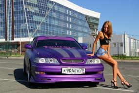 модель, Mark 2, автомобиль, Toyota, девушка