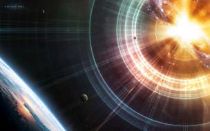 планеты, свет, звезда