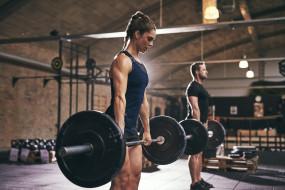спорт, body building, штанга, мышцы, спортзал, мужчины, тяжелая, атлетика, женщины