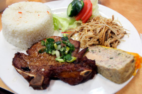 рис, мясо