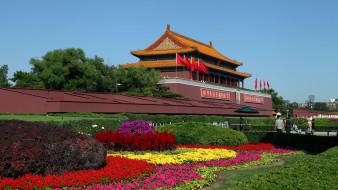 китай, столицы, пекин, сад, цветы, запретный город, города, императорский дворец, дворцы