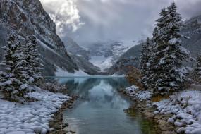 природа, реки, озера, река, небо, зима
