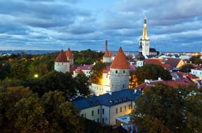 города, таллин , эстония, башни
