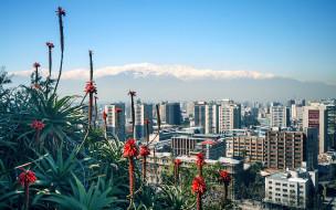 города, сантьяго , Чили, панорама
