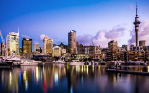 города, окленд , новая зеландия, бухта