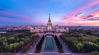 вечер, россия, москва, столицы, города, вузы, мгу
