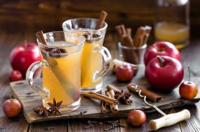 корица, яблоки, напиток