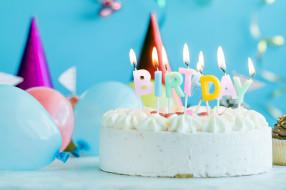 торт, свечи