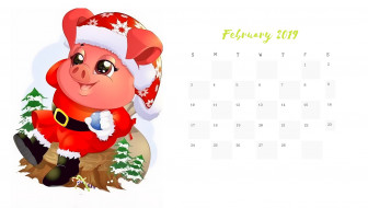 свинья, шапка, поросенок, елка