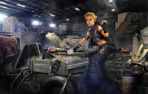 Post Apocalyptic pin up 10