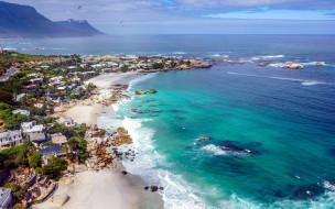 города, кейптаун , юар, панорама, побережье