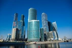 москва-сити, москва, россия, столицы, города, moscow-city, вечер, небоскребы