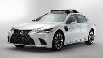 lexus, ls, tri p4, 2019, autonomous vehicle, белый, лексус