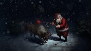 юмор и приколы, рождество, пиво, снежинки, фон, новый, год, праздник