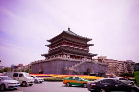 сиань, китай, колокольная, города, достопримечательности, башня