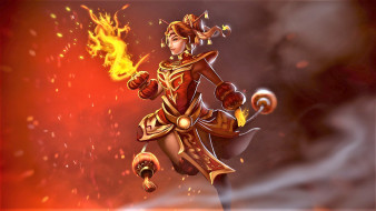 Lina, огонь, девушка