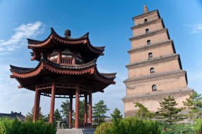пагода, пагода диких гусей, китай, сиань, буддизм, города, религия, культура, достопримечательности, гусей, диких