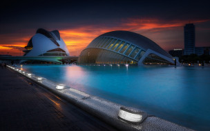 города, валенсия , испании, city, of, arts, and, sciences
