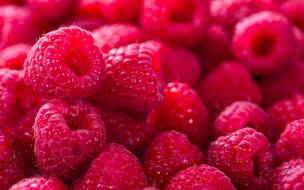 спелая, малина, ягоды