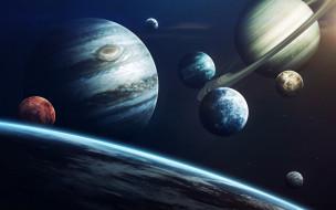 jupiter, solar system, planet