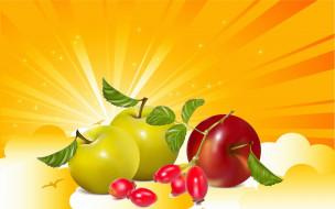 яблоки, зелёные