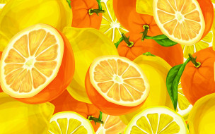 апельсины, фрукты, цитрусы