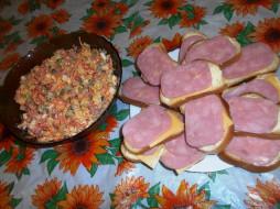 бутерброды, еда, хлеб, колбаса, сыр, салат