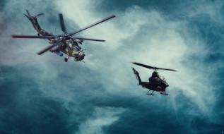 военная авиация, боевой вертолет, небо, ми28н, ночной охотник
