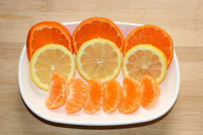 мандарин, лимон, апельсин