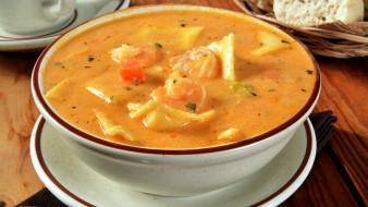 суп, морепродукты