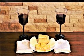 бокалы, вино, сыр