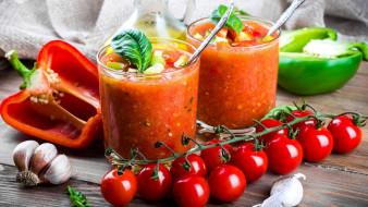 перец, чеснок, смузи, помидоры