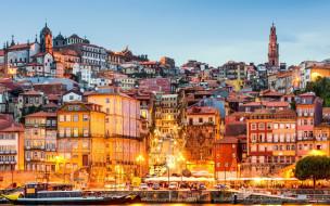города, порту , португалия, панорама