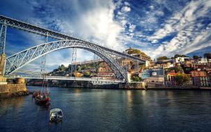 города, порту , португалия, мост